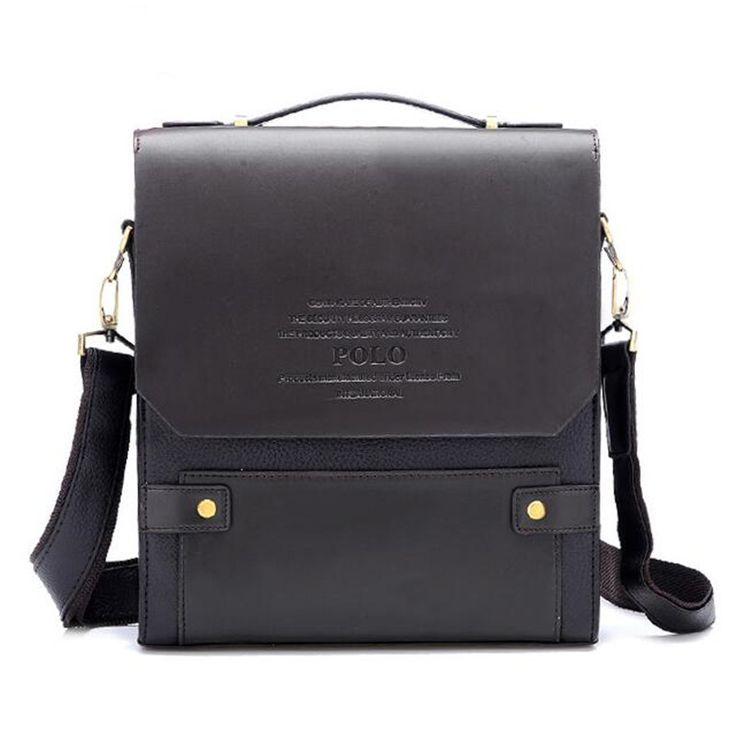 Poloマンブリーフケースバッグファッションビジネス男性革メッセンジャーショルダーバッグ用男の有名なブランドクロスボディブラウンバッグ39501