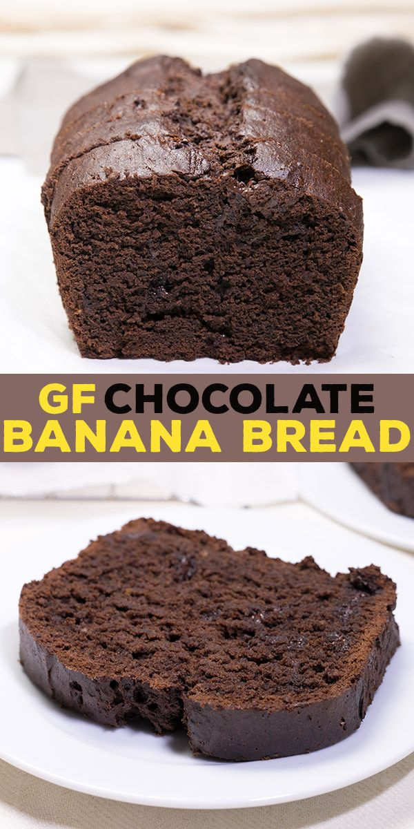 Gluten free chocolate banana bread, with plenty of melted chocolate and cocoa, plus sour cream and of course plenty of bananas.