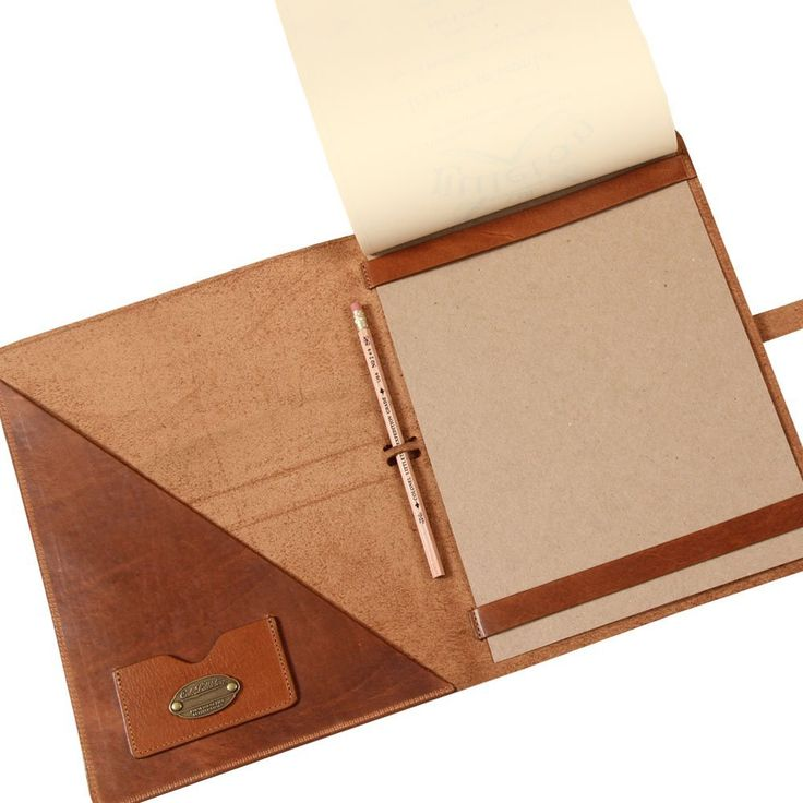 Amazon.com : Col. Littleton No. 18 Leather Business Portfolio Notebook - Saddle Tan : Office Products