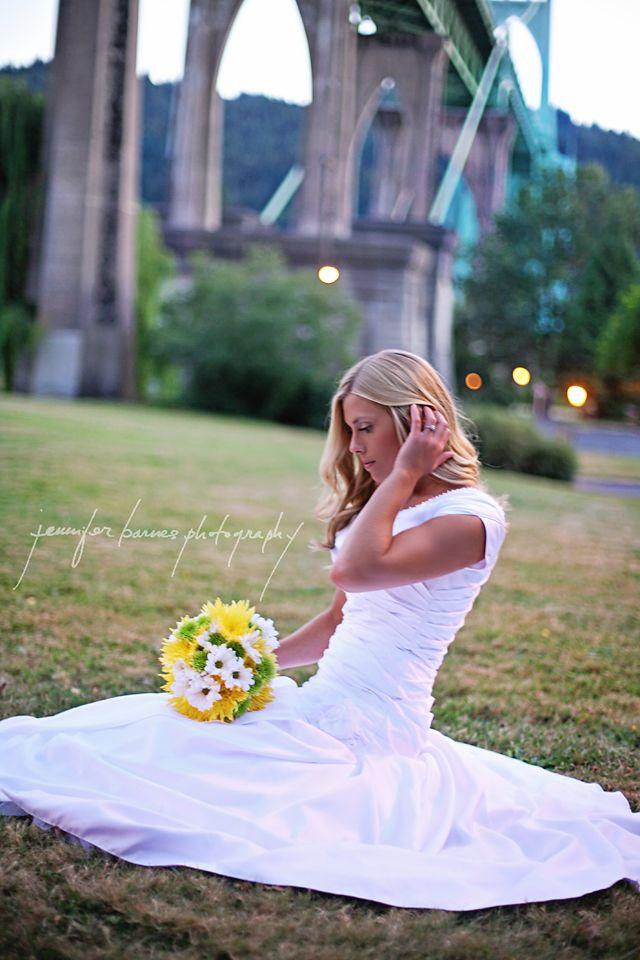 Portland LDS temple wedding photographer Jennifer Barnes Photography