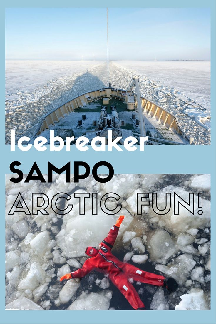 An Arctic cruise aboard Icebreaker Sampo in Kemi, Finland! Would you swim in the frozen sea?