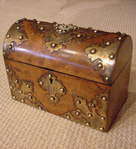 Antique Treasure Chest-Style Box