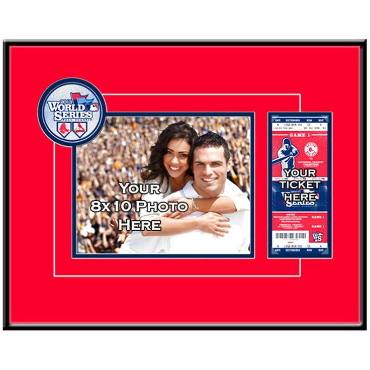 Boston Red Sox 2013 MLB World Series Champions 8'' x 10'' Photo Ticket Frame - $51.99