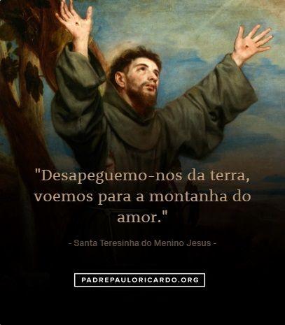 Santa Teresinha do Menino Jesus e da Sagrada Face Frases
