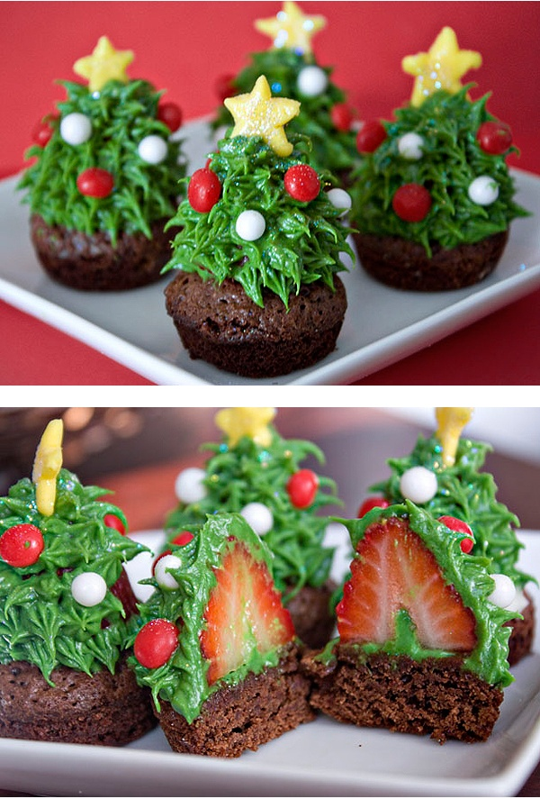 I'm usually the last person to think about Christmas but doing some research for a special project for VOGUE.COM and found these... any novelty food is good in my books as I cant cook so disguise, dress up & decoration is my secret weapon in the culinary department -  these are perfect (as long as I can buy the brownie!)