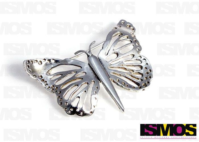 ISMOS Joyería: prendedor de plata con forma de mariposa // ISMOS Jewelry: butterfly silver brooch