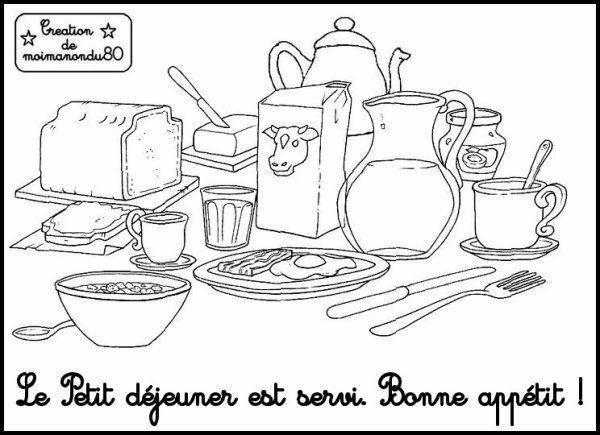 Resultat De Recherche D Images Pour Coloriage Petit Dejeuner