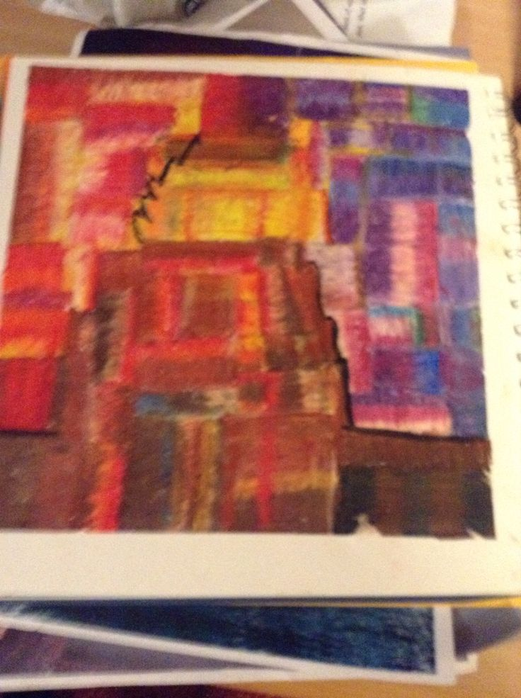Paul Klee style abstract volcano