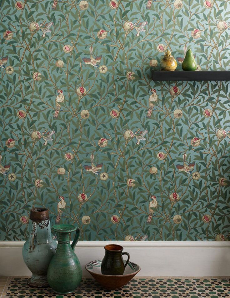 Jakobine | Floral wallpaper | Wallpaper patterns | Wallpaper from the 70s