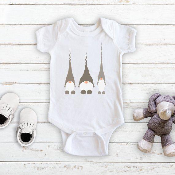 Scandinavian Gnome Infant Bodysuit God Jul Merry Christmas Happy Holidays Tomte Nisse Nordic Design Scandinavian Baby Clothes Baby Bodysuit Baby Fashion