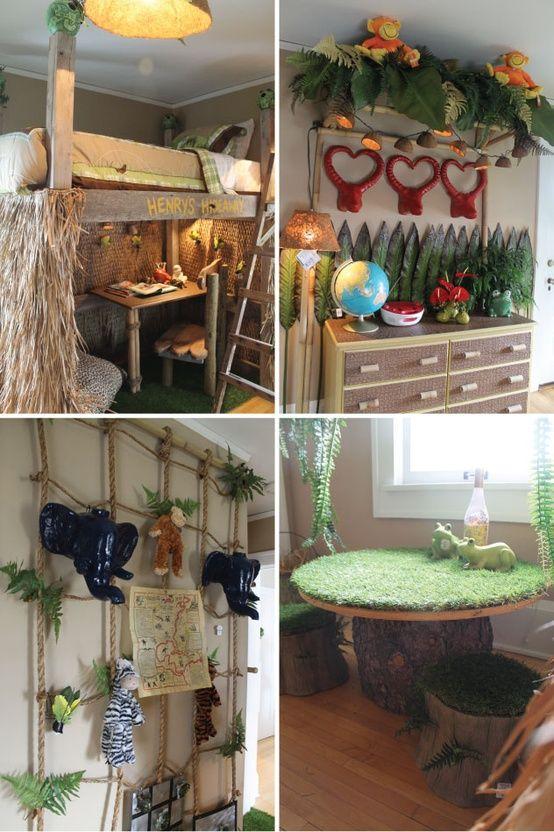 Boys bedroom-jungle themed