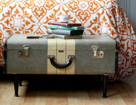 Form and Function. Alyciawickerdesign-DIY Vintage suitcase table.