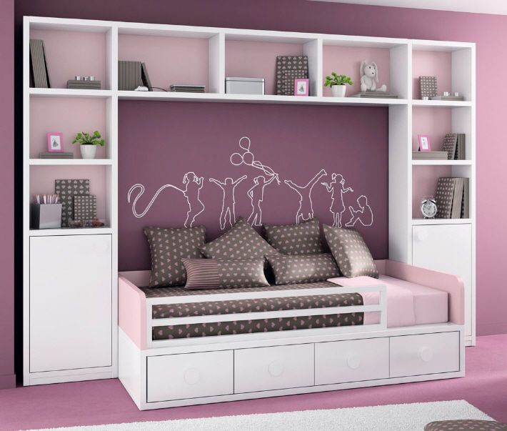 armoire pont de lit pour chambre d enfant fille dream pinterest. Black Bedroom Furniture Sets. Home Design Ideas