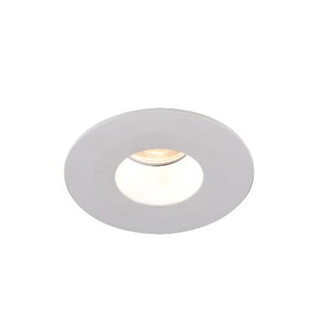 4000K 2in Tesla LED High Output Recessed Lighting Wet Location Shower Trim with Open Round Reflector