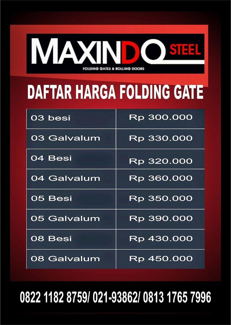 DAFTAR HARGA ROLLING DOOR DAN FOLDING GATE : HARGA FOLDING GATE JAKARTA | HARGA FOLDING GATE TE...