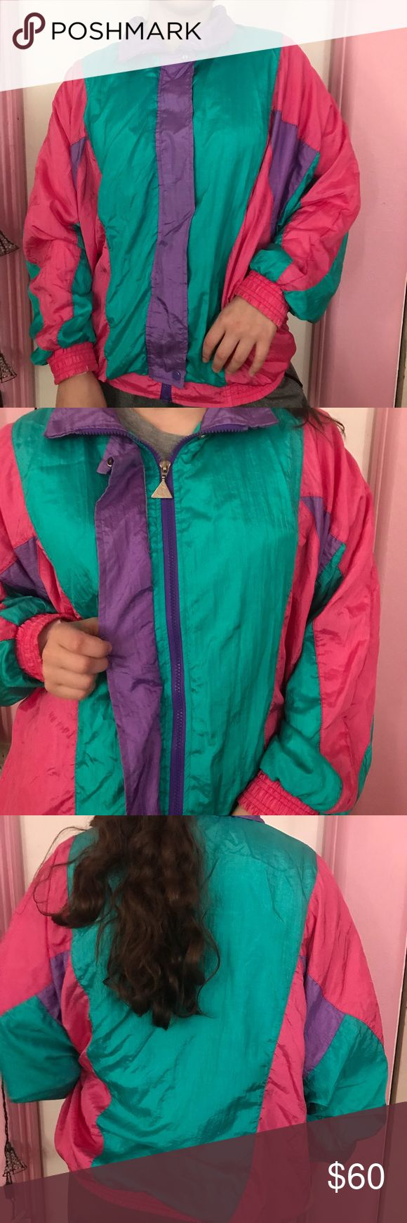 80s Vintage Color Block Windbreaker This is an 80s Vintage Color Block windbreaker. This style is very on trend right now and being sold by several stores including Urban Outfitters.  The last picture (not for sale) is a picture of urban outfitters SOLD OUT Jacket that looks very similar to this listed one. Perfect addition to your autumn and winter wardrobe. Interested? Make me an offer! Vintage Jackets & Coats