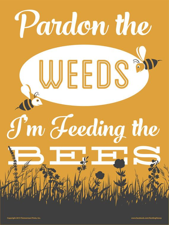 Save the Bees Yard Sign by TimmermanPrints on Etsy