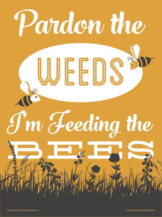 Die Bienen-Yard-Zeichen speichern von TimmermanPrints auf Etsy                                                                                                                                                                                 More