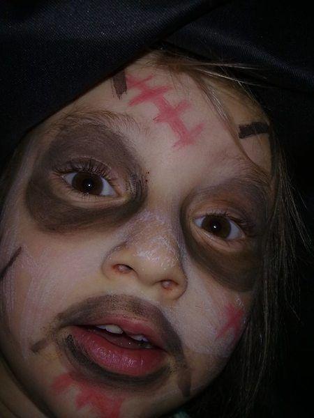 Halloweenowa stylizacja 5 letniej Nadii