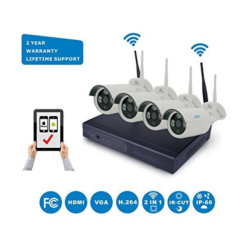 Special Offers - NorthShire Wireless Surveillance Camera Kit NVR HD Security [1.0 Megapixel] Camera System with 4CH 720P 1.0MP Waterproof Superior Night Vision HD IP Cameras (Scan QR Code Quick Remote Access) - In stock & Free Shipping. You can save more money! Check It (June 13 2016 at 08:47AM)…