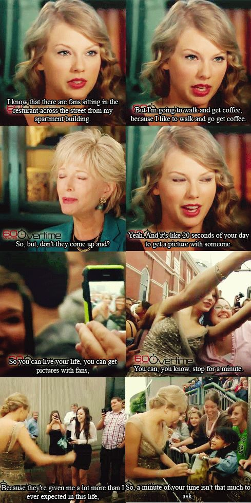 And THAT is why I love Taylor Swift.