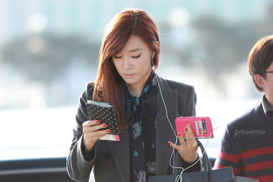 SNSD Tiffany Korean Incheon Airport