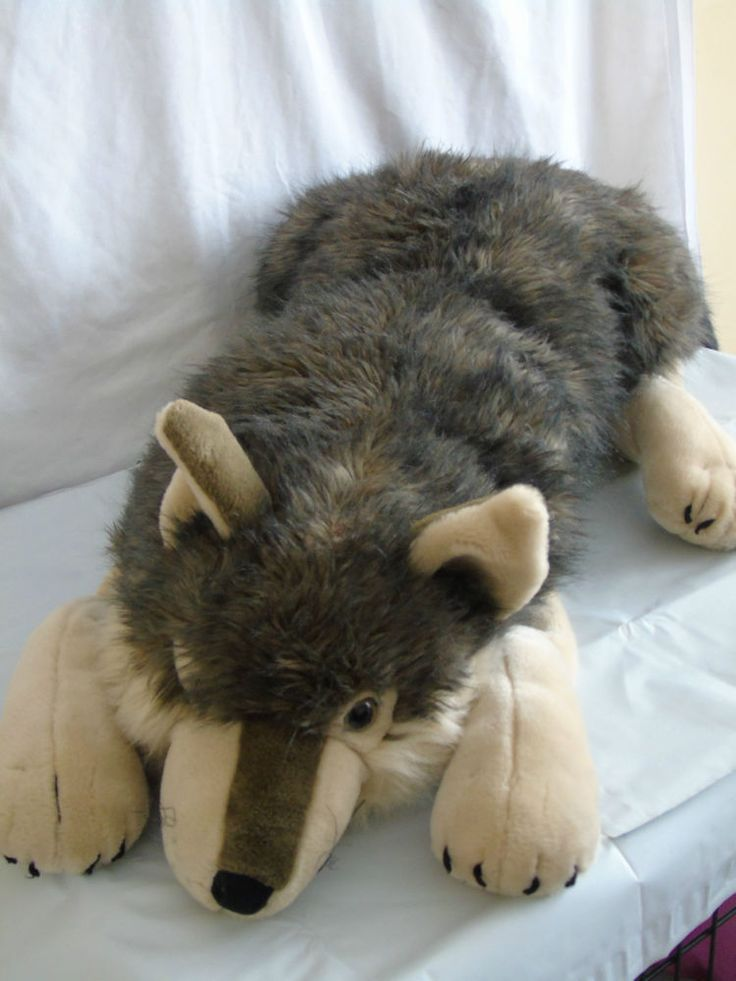 104 best wolf plush images on pinterest wolf plush wolf and a wolf. Black Bedroom Furniture Sets. Home Design Ideas