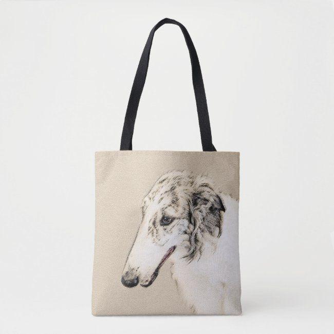 BORZOI DOG TOTE  BAG SHOPPER REUSABLE BAG GREAT GIFT