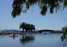 Canoeing on the lagoon at Orbetello