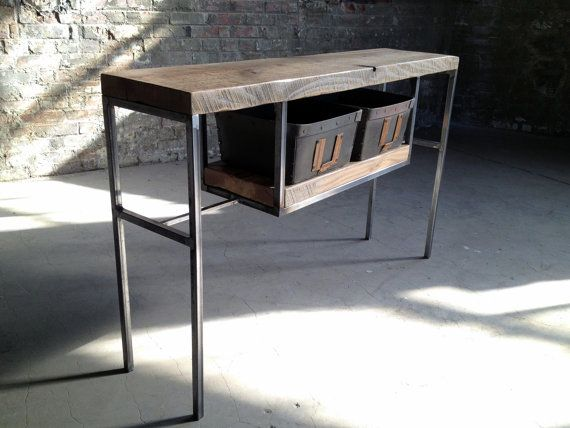 Another great @Etsy find - this #industrial console table. By Shellback Iron Works