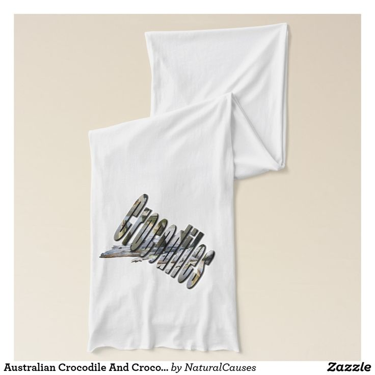 Australian #crocodile  And Crocodile Logo, #scarf