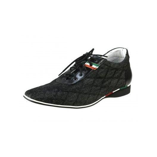 Pánske kožené športové topánky čierne PT135 - manozo.hu