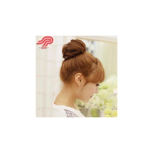Hair Bun ($13) ❤ liked on Polyvore featuring beauty products, haircare, hair styling tools, hair, accessories and wig