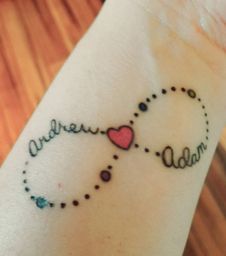 17 best ideas about infinity tattoo family on pinterest for Tattoos with birthstone colors