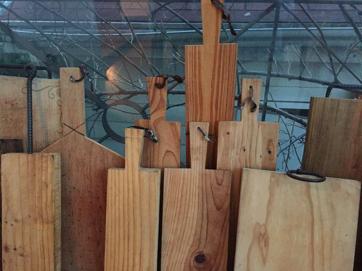 hand made wood plate