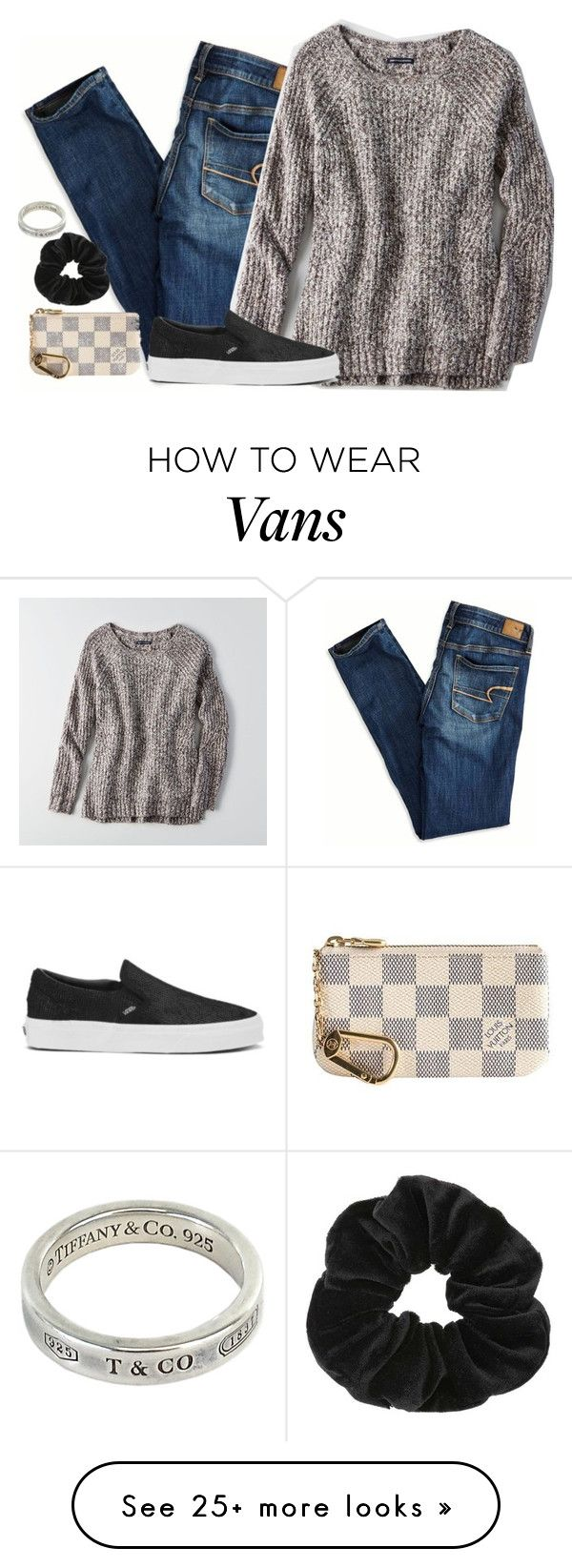 """Untitled #341"" by aidanwilliamson on Polyvore featuring American Eagle Outfitters, Miss Selfridge, Tiffany & Co., Louis Vuitton and Vans"