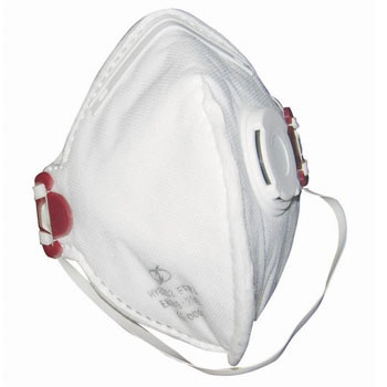 FFP3(NR) Vertical Fold Flat Masks    These disposable vertical fold flat masks are CE approved to EN149:2001+A1:2009 standards. These disposable FVRP masks are valved for easier exhalation and create a low breathing resistance for the users comfort. 20 x individually wrapped masks supplied boxed.