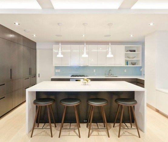 Open Kitchen With Bar Counter Seating And Chefs At Work: 1000+ Ideas About Kitchen Island Seating On Pinterest