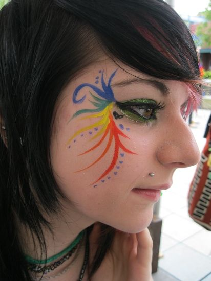 face paint peacock stuff