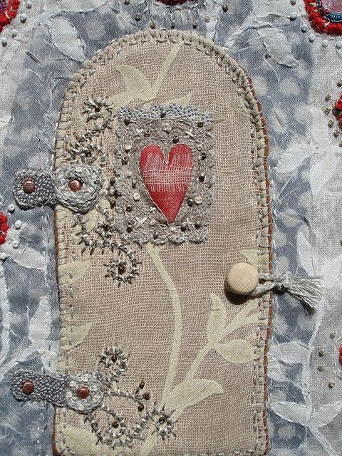 """""""close up of door..embroidered"""" by Mary Stanley"""