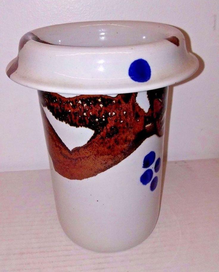 Studio Art Pottery Utensil Holder West Germany Franz Denk Keramik Ceramic 1970's