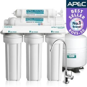 APEC Water Systems Essence Premium Quality 5-Stage Under-Sink Reverse Osmosis Drinking Water Filter System ROES-50 at The Home Depot - Mobile