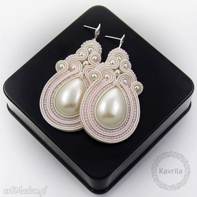 • niesztampowe kolczyki, biżuteria - kolczyki soutache romantic