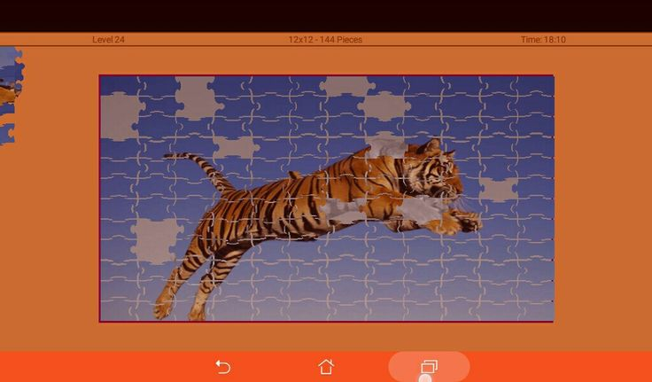 Tiger tigre 'Run fast & trying to think-🐔' at 29.11*♡_ - A=Animali puzzle giungla miniatura - #animals #wild selvatici liv.24 #level 12×12 164pz #app #google #play #game gioco♡_