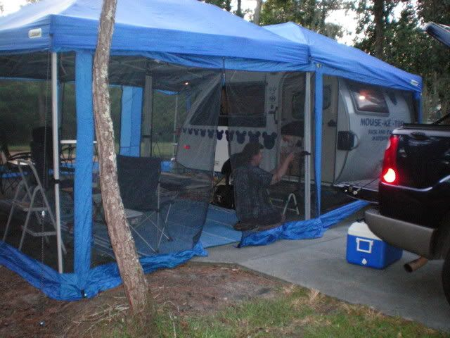 Love the screened in tent