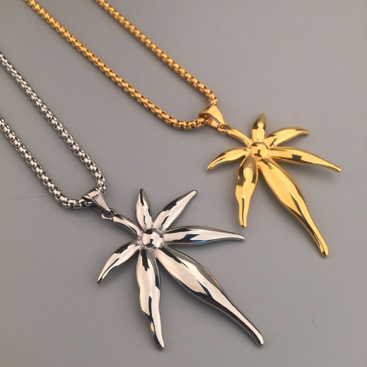 Trendy Golden Weed Leaf Reggae Boxing Chain Necklace //Price: $32.30 & FREE Shipping //     #cannabis