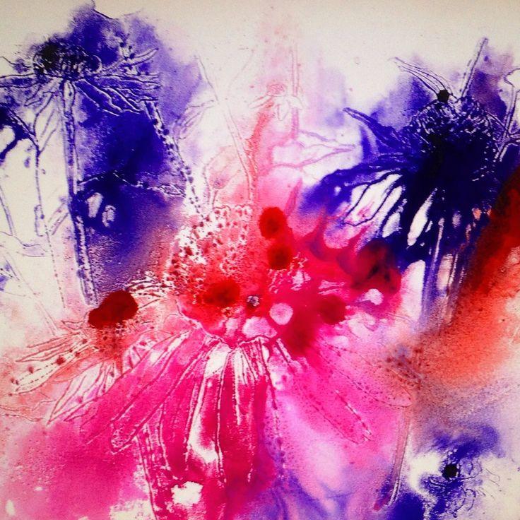 Fine Art Printmaking Mono Type courtesy of Patricia Griffin