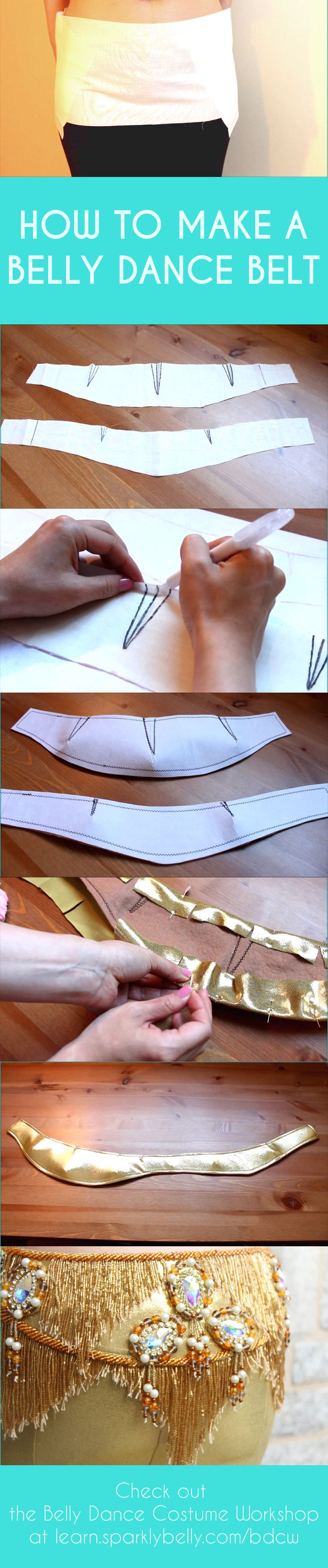 How to make a belly dance belt - custom made to your size.