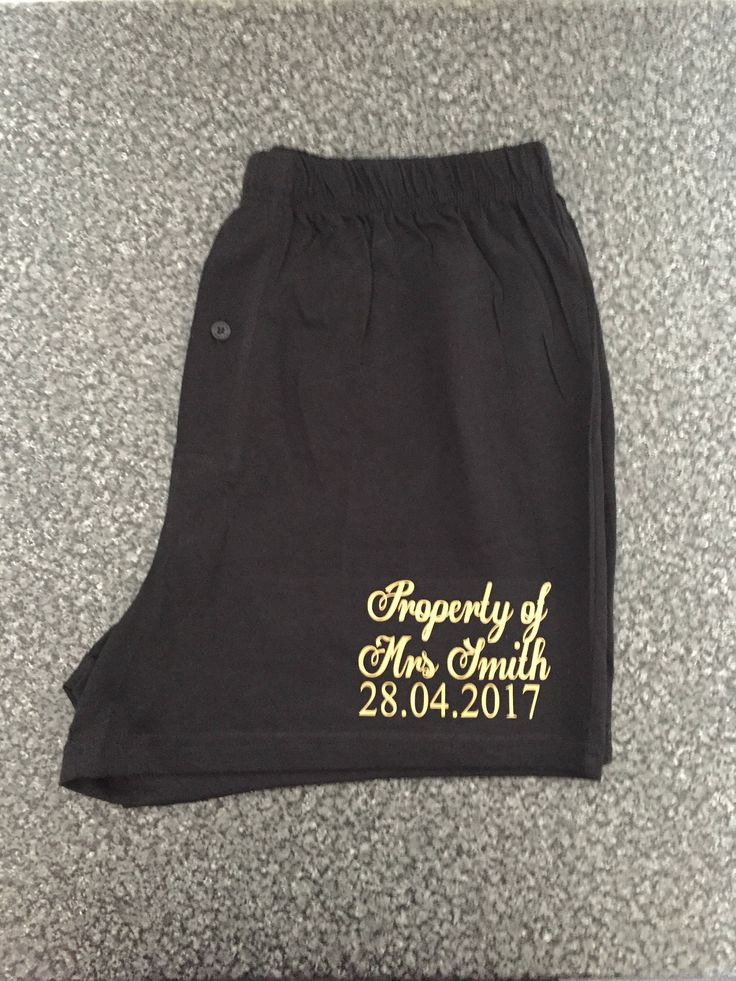 Groom boxers, underwear, property of boxers, personalised boxers, funny joke boxers, pants, underwear, bestman, groom gift, black boxers, by personaliseddiamante on Etsy https://www.etsy.com/uk/listing/512394528/groom-boxers-underwear-property-of