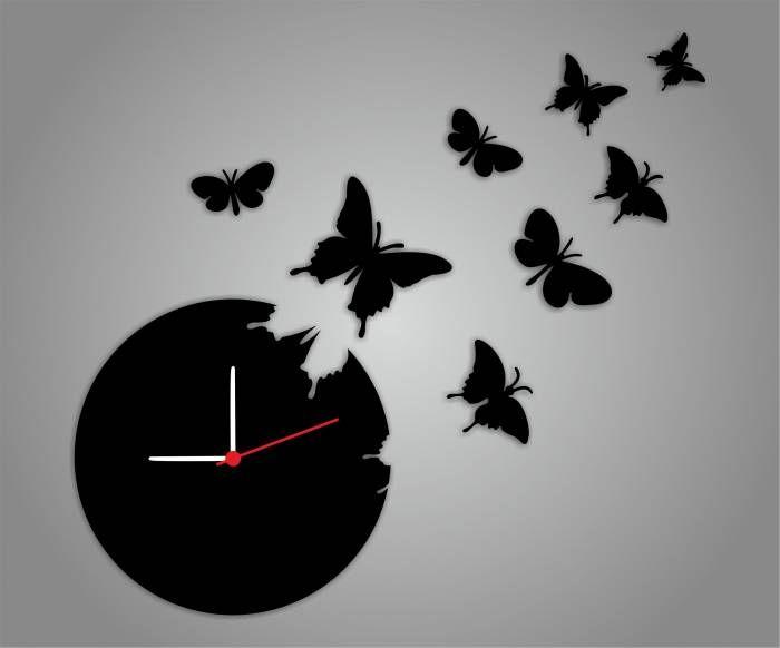 Картинки часы с бабочкой